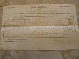 Old Document  171 -Pfarre HERNALS - Austria -  HÜBL  -Decanat Klosterneuburg TM001.5 - Mitteilung