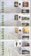 Colombia (2004) - 4 FDC -  /  Tourism - Art - Mountain - Vulcan - Volcano - Church - Culturen