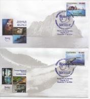 Colombia (2004) - 2 FDC -  /  Whales - Balenes - Ballenas - Marine Fauna - UPAEP - Ballenas