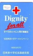 Telecarte Japon * Croix Rouge (1584) PHONECARD JAPAN * Red Cross * TELEFONKARTE * ROTES KREUZ * RODE KRUIS - Reclame