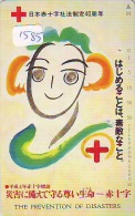 Telecarte Japon * Croix Rouge (1585) PHONECARD JAPAN * Red Cross * TELEFONKARTE * ROTES KREUZ * RODE KRUIS - Reclame