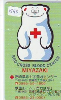 Telecarte Japon * Croix Rouge (1590) PHONECARD JAPAN * Red Cross * TELEFONKARTE * ROTES KREUZ * RODE KRUIS - Werbung