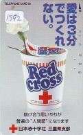Telecarte Japon * Croix Rouge (1592) PHONECARD JAPAN * Red Cross * TELEFONKARTE * ROTES KREUZ * RODE KRUIS - Publicidad