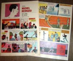 HISTOIRE COMPLETE Y DUVAL W VANCE MICHEL BERNARD ATHLETISME CHAMPION STEEPLE 110 M HAIES - Sammlungen