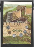 CINA - Folder Con 6 Monete FDC Perfetto - China