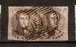 Medaillon 10 Cent In Paar Gestempeld En Met Redelijke Beranding ! Inzet Aan 5 € ! - 1858-1862 Medaillen (9/12)