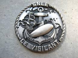 INSIGNE MARINE NATIONALE SOUS MARIN SNLE LE VIGILANT (COIN) ETAT EXCELLENT