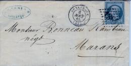 Lettre De Dunkerque à Marans - 1849-1876: Période Classique