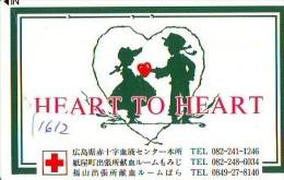 Telecarte Japon * Croix Rouge (1612) PHONECARD JAPAN * Red Cross * TELEFONKARTE * ROTES KREUZ * - Advertising