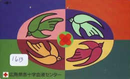 Telecarte Japon * Croix Rouge (1613) PHONECARD JAPAN * Red Cross * TELEFONKARTE * ROTES KREUZ * - Advertising