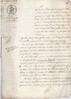 VP78- COURTRY X VILLEVAUDE 1834 - Acte Vente De Vigne - Manuscritos