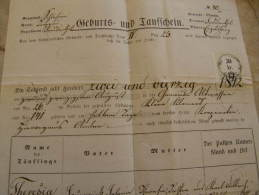 Old Document  1874 - Olmütz - Engelsberg   Liberec - Theresia Hedwig  TM002.7 - Nacimiento & Bautizo