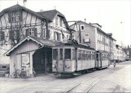 Tramways Balois, Münchenstein, Photo 1964 BVA , BEB 195.5 - BS Bâle-Ville