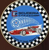 X Adesivo Stiker Etiqueta SCUDERIA CFR RUOTE IN LEGA LEGGERA DIAMETRO CM. 15 - Non Classificati