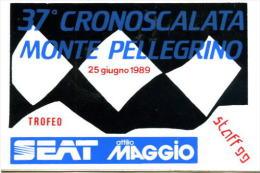 X Adesivo Stiker Etiqueta 37^CRONOSCALATA MONTE PELLEGRINO CM. 9X13 - Non Classificati