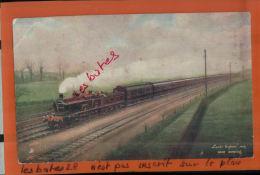 CPA  ENGLETERRE,  Middlesex,   Train Locomotive - Leeds Express - Near Hendon  , OCT 2013 649 - Tuck, Raphael