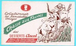 BUVARD BUValgerie Algeria Publicité Pub Chasse Aux Fauves Des Desserts ANCEL Hunting Wild Desserts Elephant Tiger Tigre - Animals