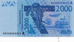 COTE D'IVOIRE : 2000 Frcs 2004 (unc) - Côte D'Ivoire