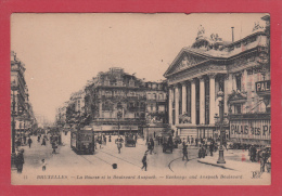 BRUXELLES [Bruxelles ~ Belgique] -->  La Bourse Et Le Boulevard Anspach - Monumenti, Edifici
