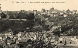 N°84 EE DINAN PANORAMA DE LA VILLE PRIS DE LA ROUTE DE LANVALLAY - Dinan