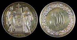 AG00068 Médaille De Mariage Avec Monogramme (1861) Et Couple Entourant Un Autel Au Revers, Ag 40 G - France