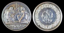 AG00070 Médaille De Mariage, Monogramme Et Scène D´union Au Revers, Argent, 24 G. - France