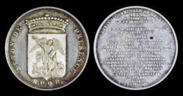 AG00072 Jeton De Présence Commune De Bruxelles (1853) Avec Liste Conseillers Et écu Au Revers, Argent, (8 G.) - Jetons De Communes