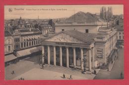 BRUXELLES [Bruxelles ~ Belgique] -->   Théâtre Royal De La Monnaie Et Eglise Sainte Gudule - Monumenti, Edifici