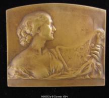 M00362 ART NOUVEAU La Musique, Canard, Serpent Et Femme Au Revers, Bronze, 132 G. - Belgium