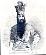 Nasreddin, Schah De Perse         Gravure, Document    1859 - Alte Papiere