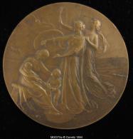 M00375 Compagnie Belge D´assurance (1924) Et Femmes Et Enfants Au Revers, Bronze, 116 G. - Belgium