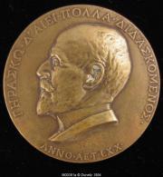 M00381 Baudouin De Jonghe De Profil (1918) Et Armes, Société Belge De Numismatique Au Revers, Bronze, (76 G.) - Belgium