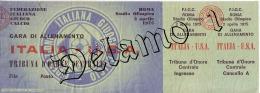 Naz. Di Calcio Italiane-- ROMA-. Biglietto Originale Incontro -- ITALIA -- U.S.A. 1975 - Habillement, Souvenirs & Autres