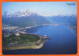 ★★ NARVIK HAVN  ★★ HVARINGS PC.  AERIAL VIEW NARVIK  HARBOUR. NORTH NORWAY  ★★ - Norway