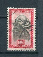 CONGO BELGE - Y&T N° 295° - Masque De La Tribu Des Ba-Luba - 1947-60: Used