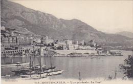 Monaco Monte Carlo Vue Generale Le Port - Harbor