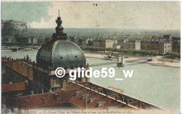 LYON - Le Grand Dôme De L'Hôtel-Dieu Et Vue Sur La Guillotière - N° 383 - Lyon
