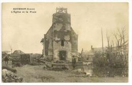 Sourdon - L'église Et La Poste - France