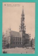 BRUXELLES [Bruxelles ~ Belgique] --> La Grand'Place. Côté Ouest, L'Hôtel De Ville. - Monumenti, Edifici