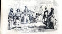 Hommes Du Peuples Et Militaires Persans        Gravure, Document    1859 - Alte Papiere
