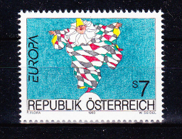 AUSTRIA   1993 ,  Europa CEPT Art.    , Y&T  #  1922,  Cv   3.00  E , **  M N H , V V F - 1945-.... 2a Repubblica