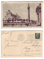 Italia Italy Cartolina Roma Monumento Viitorio Emanuele E Colonna  Edit. Brunner Como FP 1935 - Panthéon