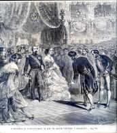 L'empereur Et L'impératrice Au Bal Du Grand Théatre à Bordeaux       Gravure, Document    1859 - Vieux Papiers