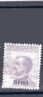 1912 EGEO SIMI 50 CENT NUOVO MNH** - Egée (Simi)