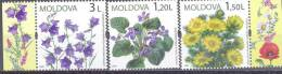 2009. MOldova, Wild Flowers, 3v,  Mint/** - Moldavia