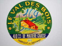 A-55084 - Etiquette De Fromage LE VAL DES BOIS - AUBREVILLE - Meuse 55S - Cheese