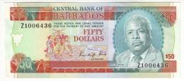 Barbados 50 Dollars 1989 UNC, Replacement Banknote (!) - Barbades
