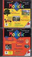 Lot De 4 MOBICLIC   N° 6  , 7 , 8 , 9  Octobre 1998 à Janvier 1999      CD Rom  Mobiclic   édition Milan   Neuf - CD