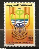 Maroc 1982 N° 930 ** Journée Mondiale De L´alimentation, FAO, Eau, Fourchette, Céréale, Blé, Agriculture - Morocco (1956-...)