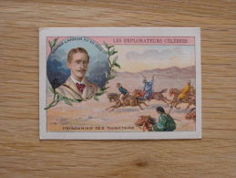 Savage Landor Tibet   EXPLORATEURS CELEBRES Chromo Compagnie Anglaise Cie Bruxelles Vignette Old Trading Card - Chromos